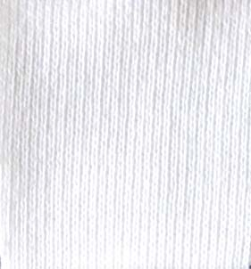 50% Recycled Yarn - Cotton Rich Sweatshirting - 6535   White